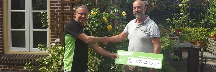 Prijs landelijke CASHBACK-actie valt in Wehl