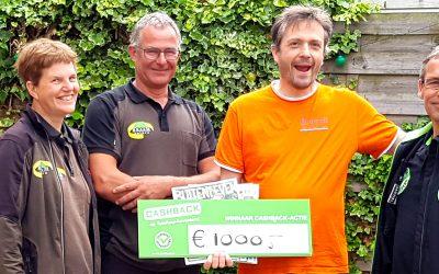 Prijs landelijke CASHBACK-actie valt in Groningen