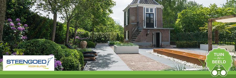 Een moderne tuin op een klassieke locatie door Steengoed hoveniersbedrijf