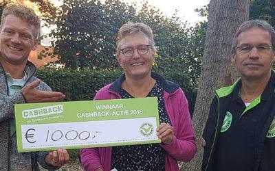 Prijs landelijke CASHBACK-actie valt in Burgum