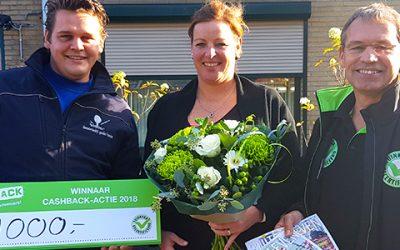 Prijs landelijke CASHBACK-actie valt in 'S Heerenberg