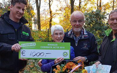 Prijs landelijke CASHBACK-actie valt in Vaassen