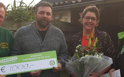 Prijs landelijke CASHBACK-actie valt in Harderwijk