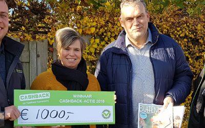 Prijs landelijke CASHBACK-actie valt in Wamel