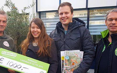 Prijs landelijke CASHBACK-actie valt in Eindhoven