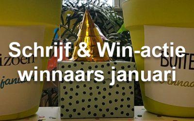 De eerste winnaars van de Schrijf & Win-actie zijn bekend!
