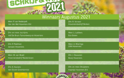 2021-8 Schrijf & Win winnaars augustus