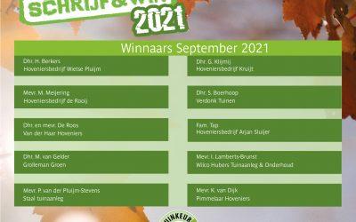 2021-9 Schrijf & Win winnaars september